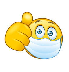 masked-smilie-with-a-thumbs-up-sign-vector-30917196